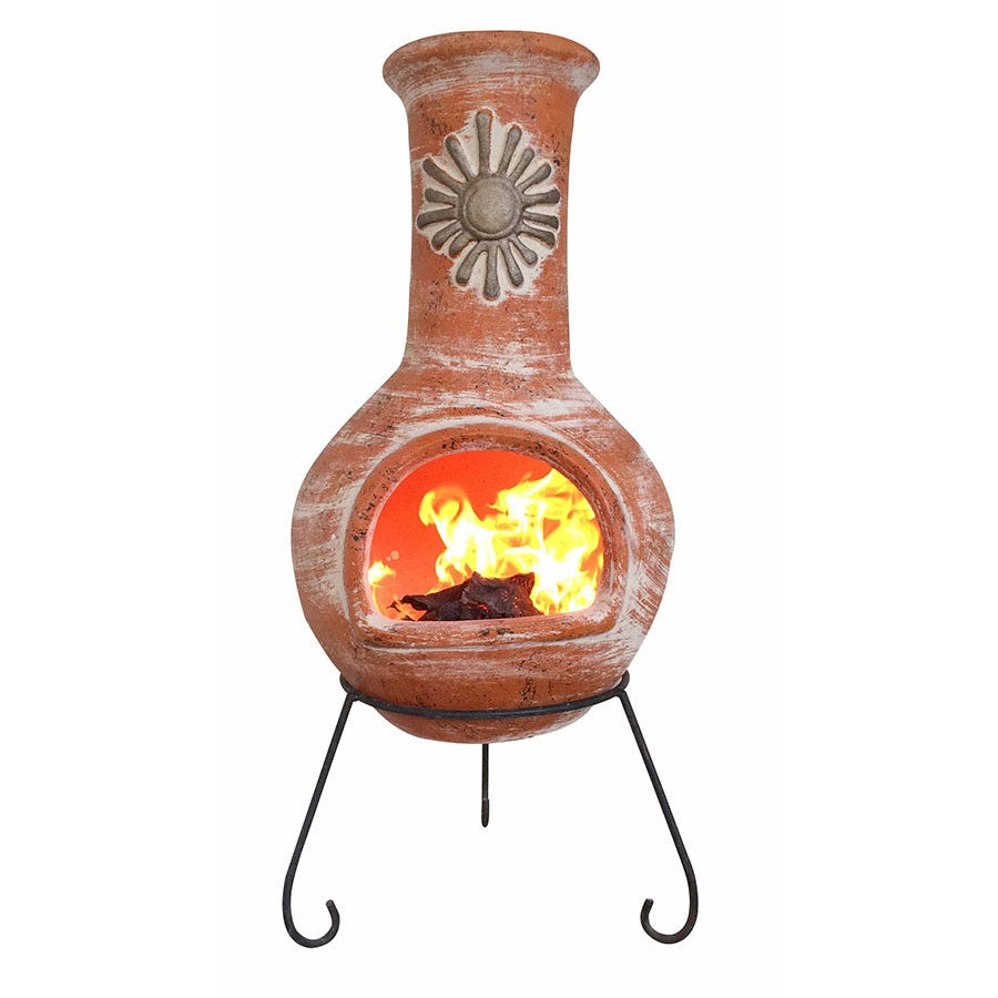 Compare prices for Gardeco Extra-Large Sol Mexican Chiminea - Terracotta