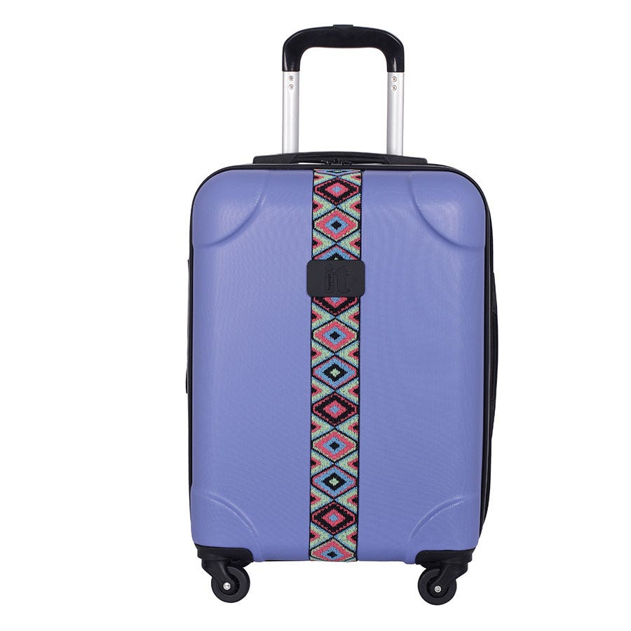 Compare prices for IT Luggage IT 4-Wheel ABS Emboss Cabin Size Suitcase - Bleached Denim