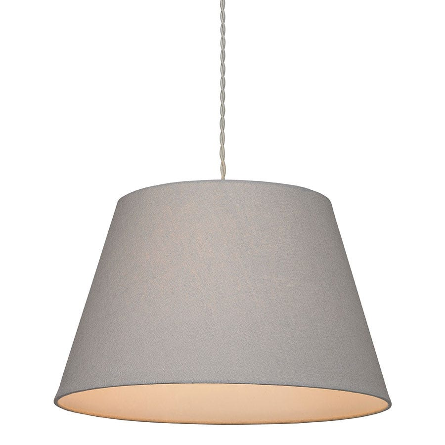 Village At Home Large Drum Shade - Grey