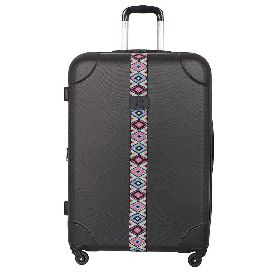 Compare prices for IT Luggage IT 4-Wheel ABS Emboss Large Suitcase
