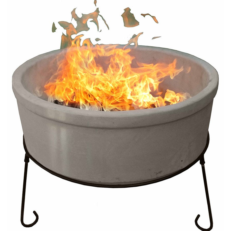 Compare prices for Gardeco Jumbo Atlas AFC Fire Bowl - Glazed Ivory