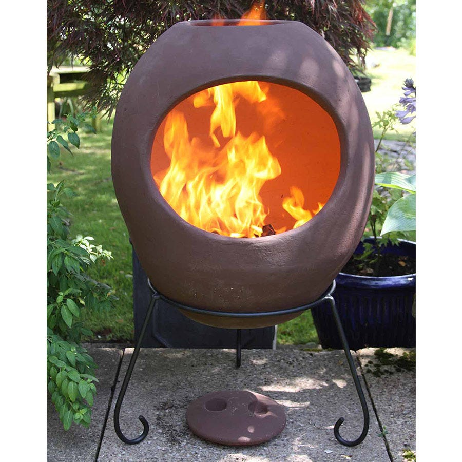 Compare prices for Gardeco Extra-Large Ellipse Mexican Chiminea - Light Brown