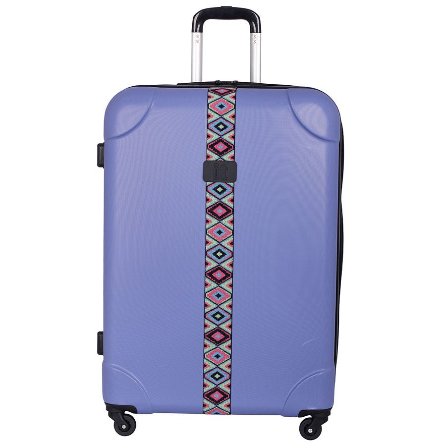 Compare prices for IT Luggage IT 4-Wheel ABS Emboss Large Suitcase - Bleached Denim