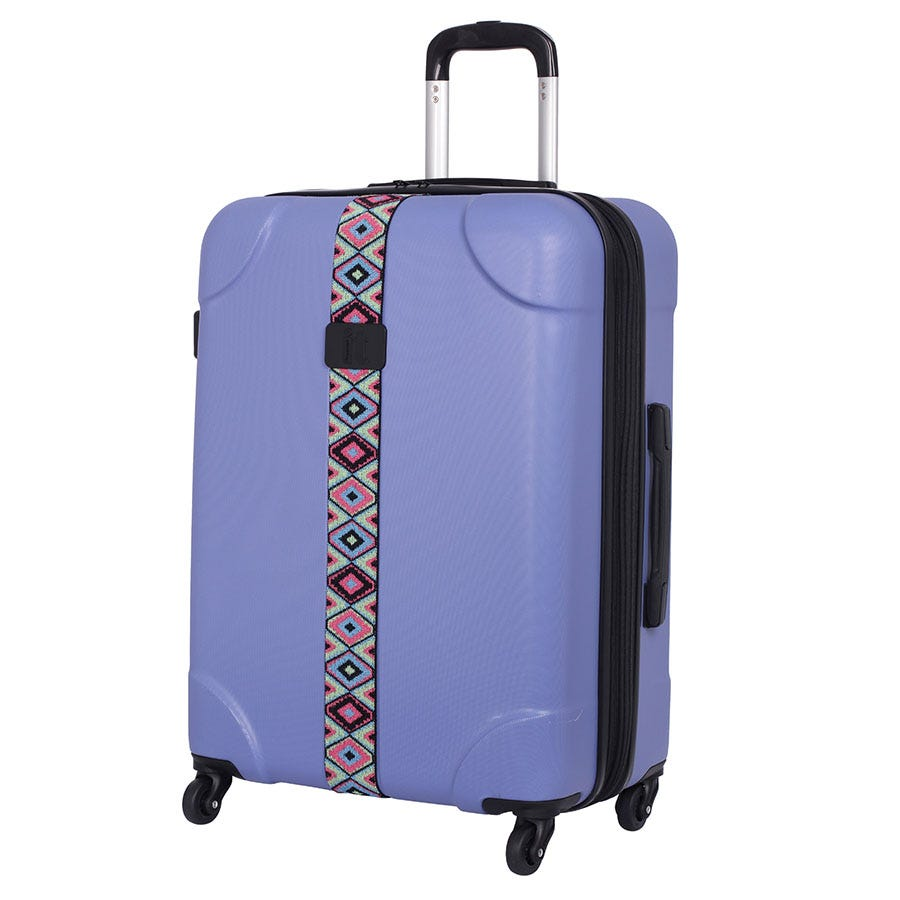 Compare prices for IT Luggage IT 4-Wheel ABS Emboss Medium Suitcase - Bleached Denim