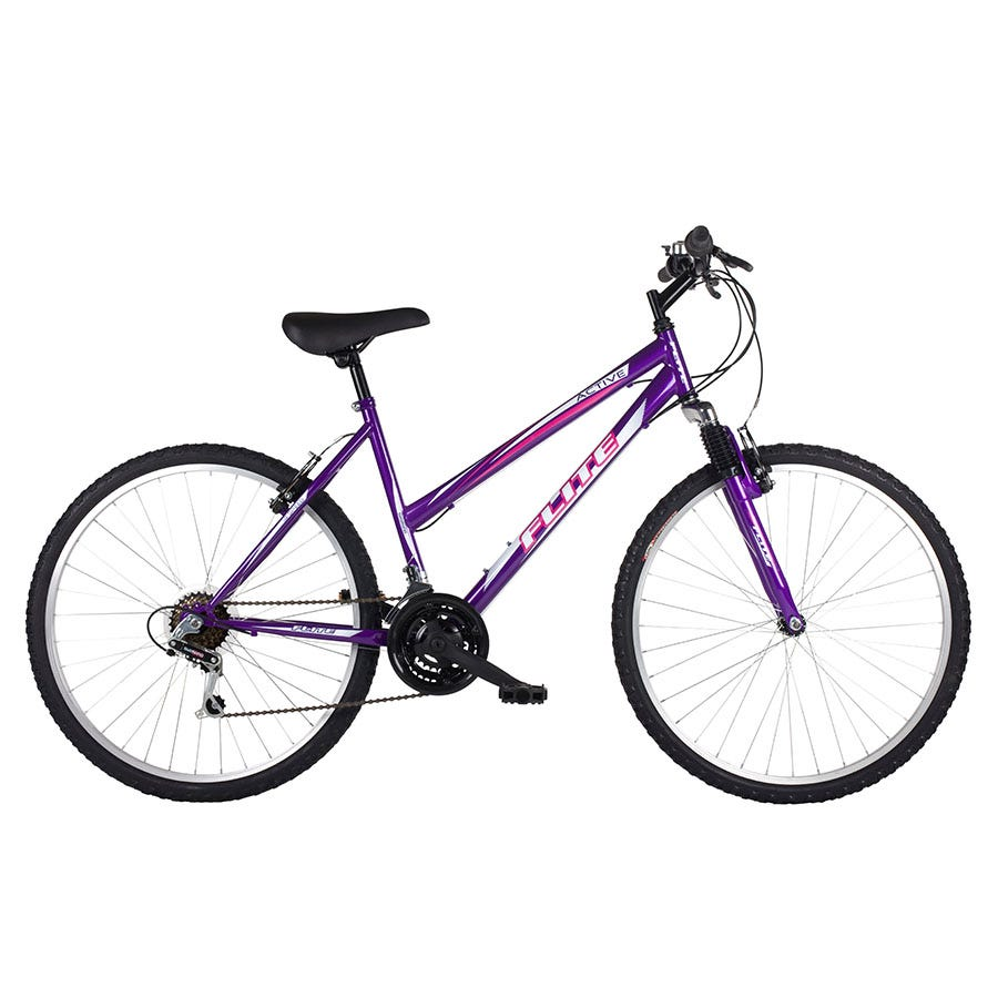 Compare prices for Flite Active Ladies Hardtail Mountain Bike 18-Inch - Purple