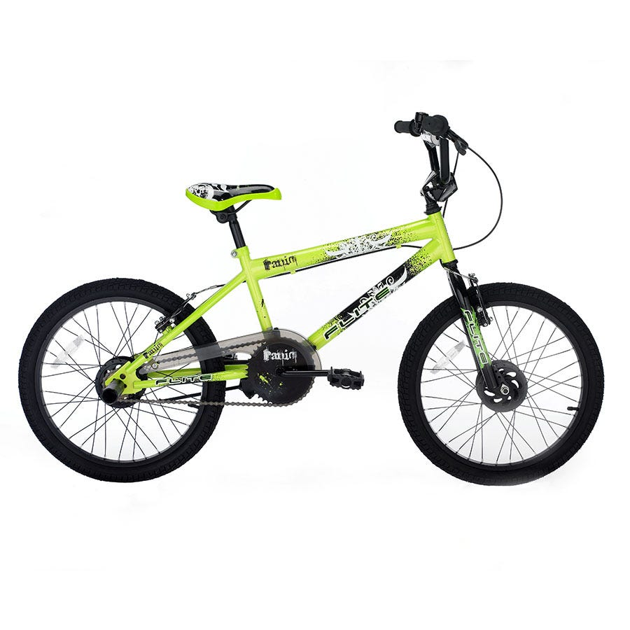 Compare prices for Flite Panic Boys BMX Bike 20 Inch - Green