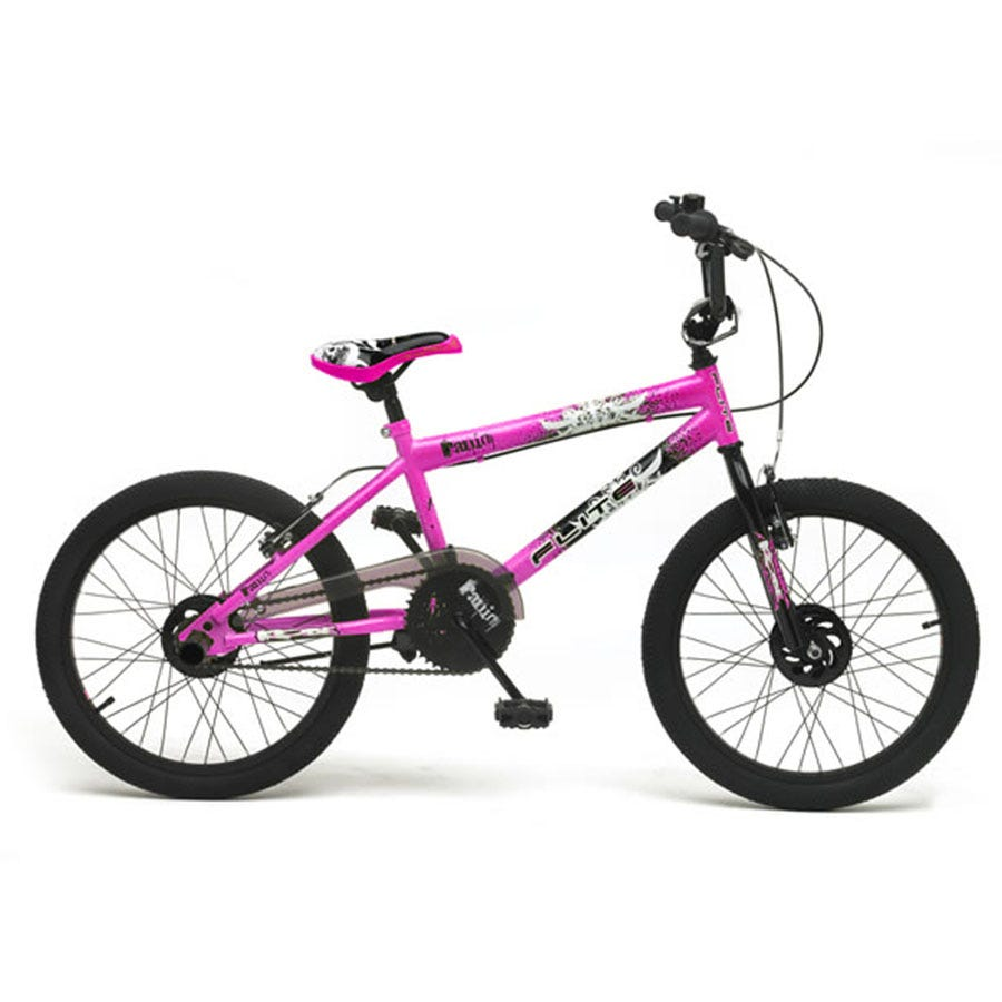 Compare prices for Flite Panic Girls BMX Bike 20 Inch - Cerise
