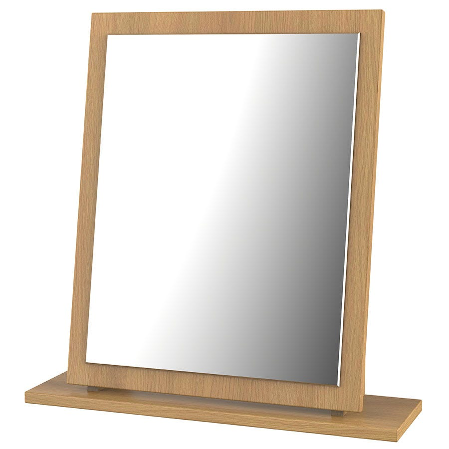 Edina Dressing Table Mirror - Modern Oak