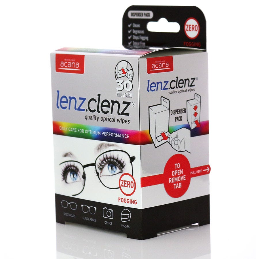 Compare prices for Acana Lenz Clenz Anti-Fog Optical Wipes - 30 Pack