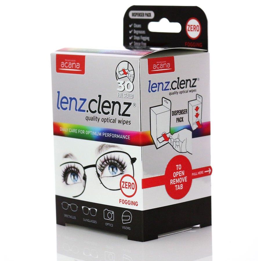 Acana Lenz Clenz Anti-Fog Optical Wipes - 30 Pack