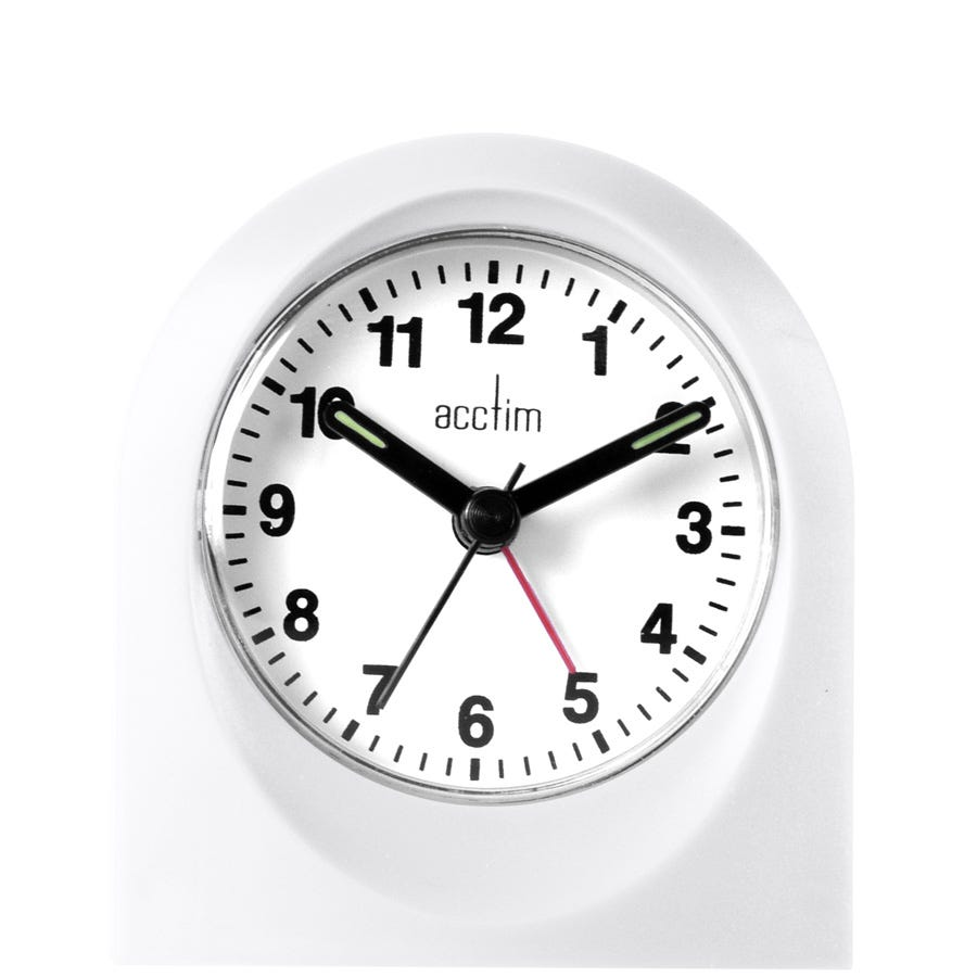 Image of Acctim Palma Alarm Clock - White