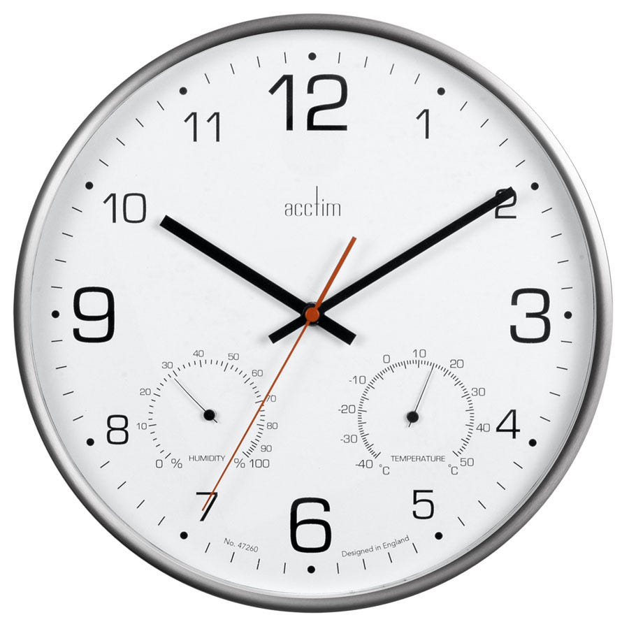 Compare prices for Acctim Komfort Thermo Hygro Wall Clock