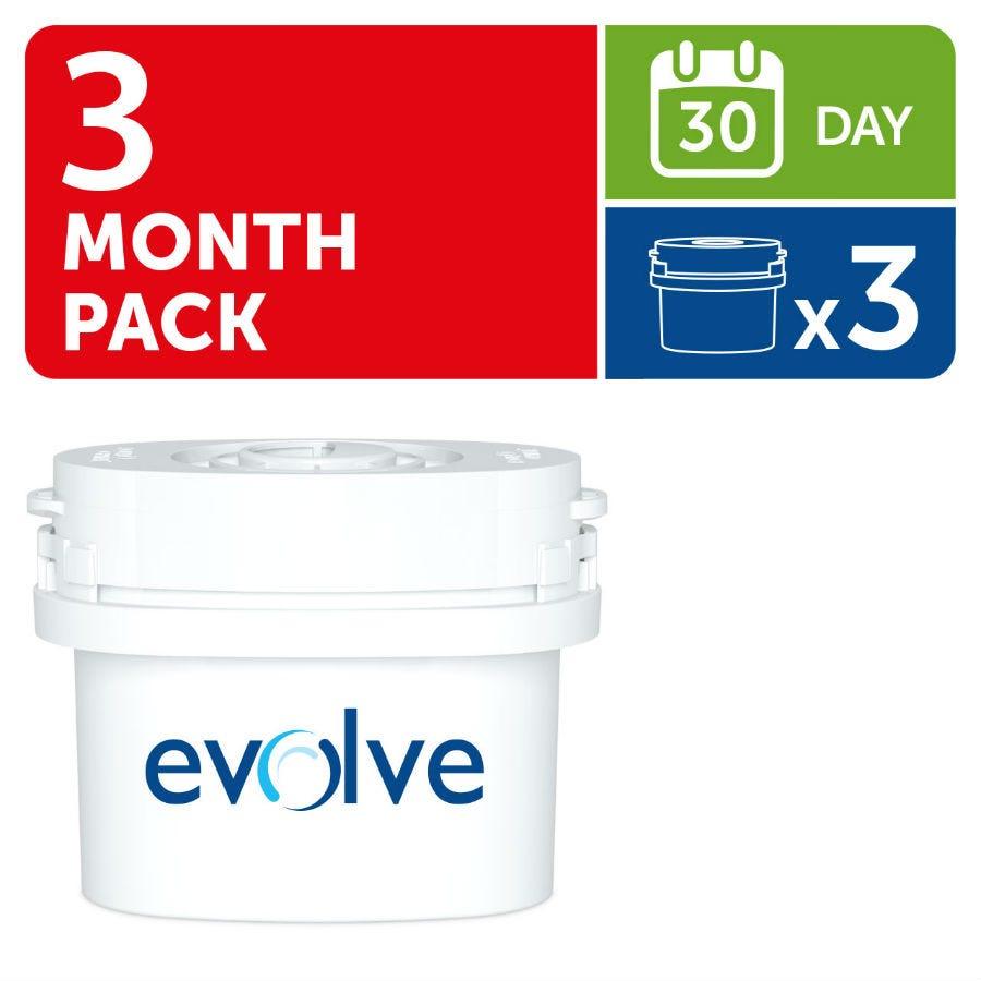 "Image of Aqua Optima Evolve 30 Day Water Filter Cartridge – Pack of 3 – Compatible with Aqua Optima and Brita ""Maxtra"" Filter Jugs"