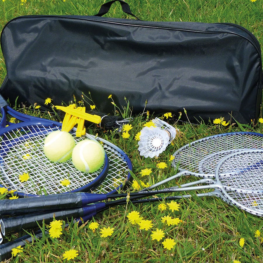 Compare prices for Mightymast Badminton and Tennis Combo Set