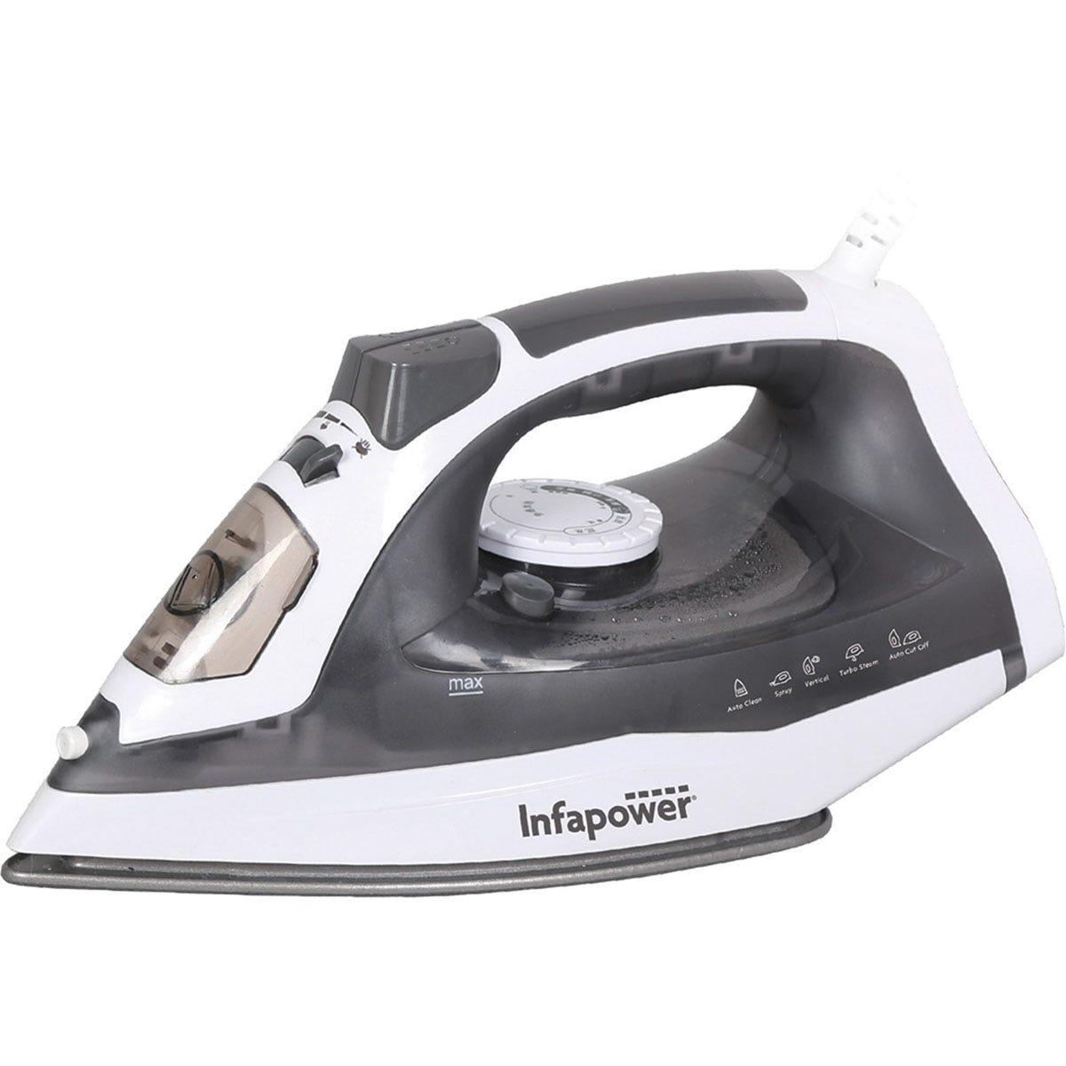 Infapower X602 2400W Premium Steam Iron - White & Grey