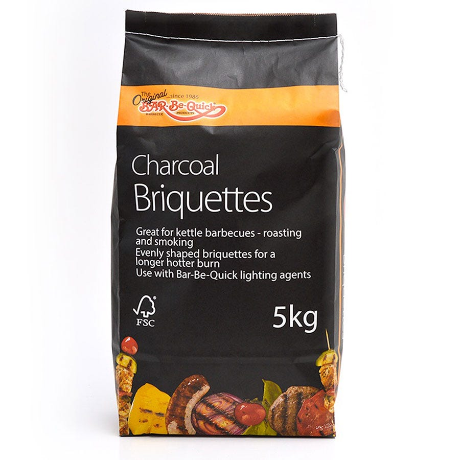 Robert Dyas/Outdoors/Garden Furniture & BBQ's/Bar-Be-Quick Charcoal Briquettes - 5kg