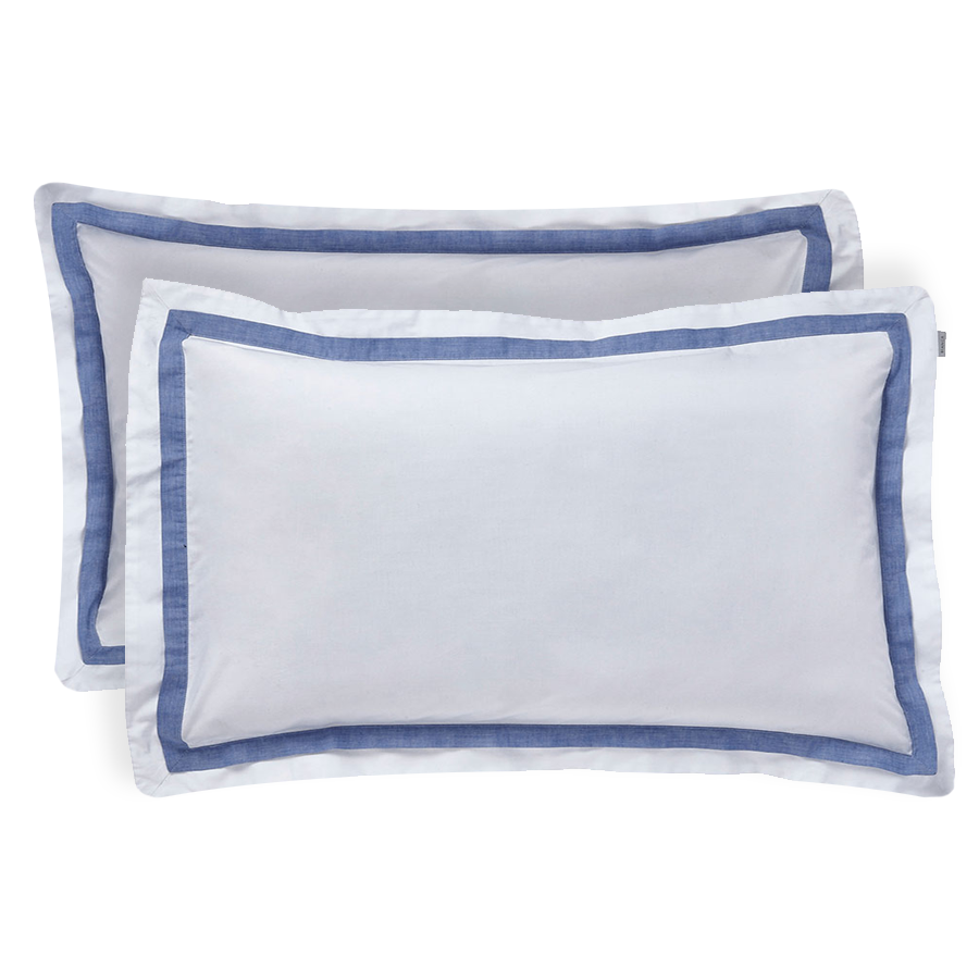 Compare prices for Bianca Cotton Soft Bianca Pair of Cotton Chambray Pleated Oxford Pillowcases