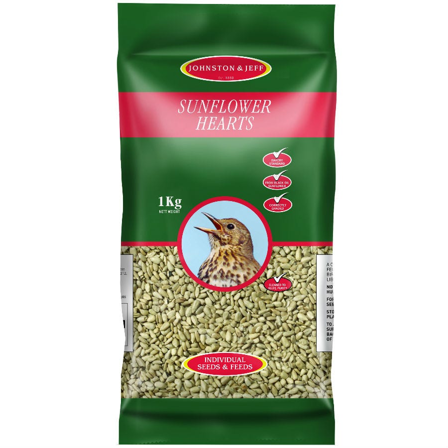 Compare prices for Johnston and Jeff Sunflower Hearts - 1kg