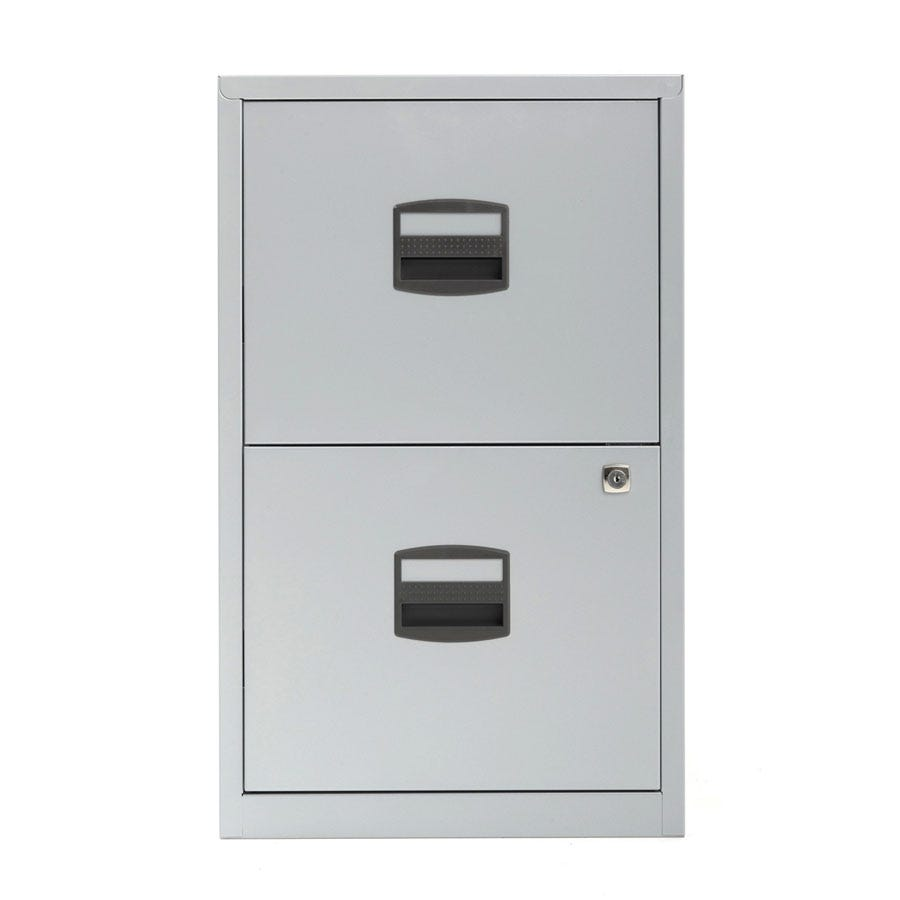 Compare prices for Bisley 2 Drawer A4 Metal Filing Cabinet - Silver