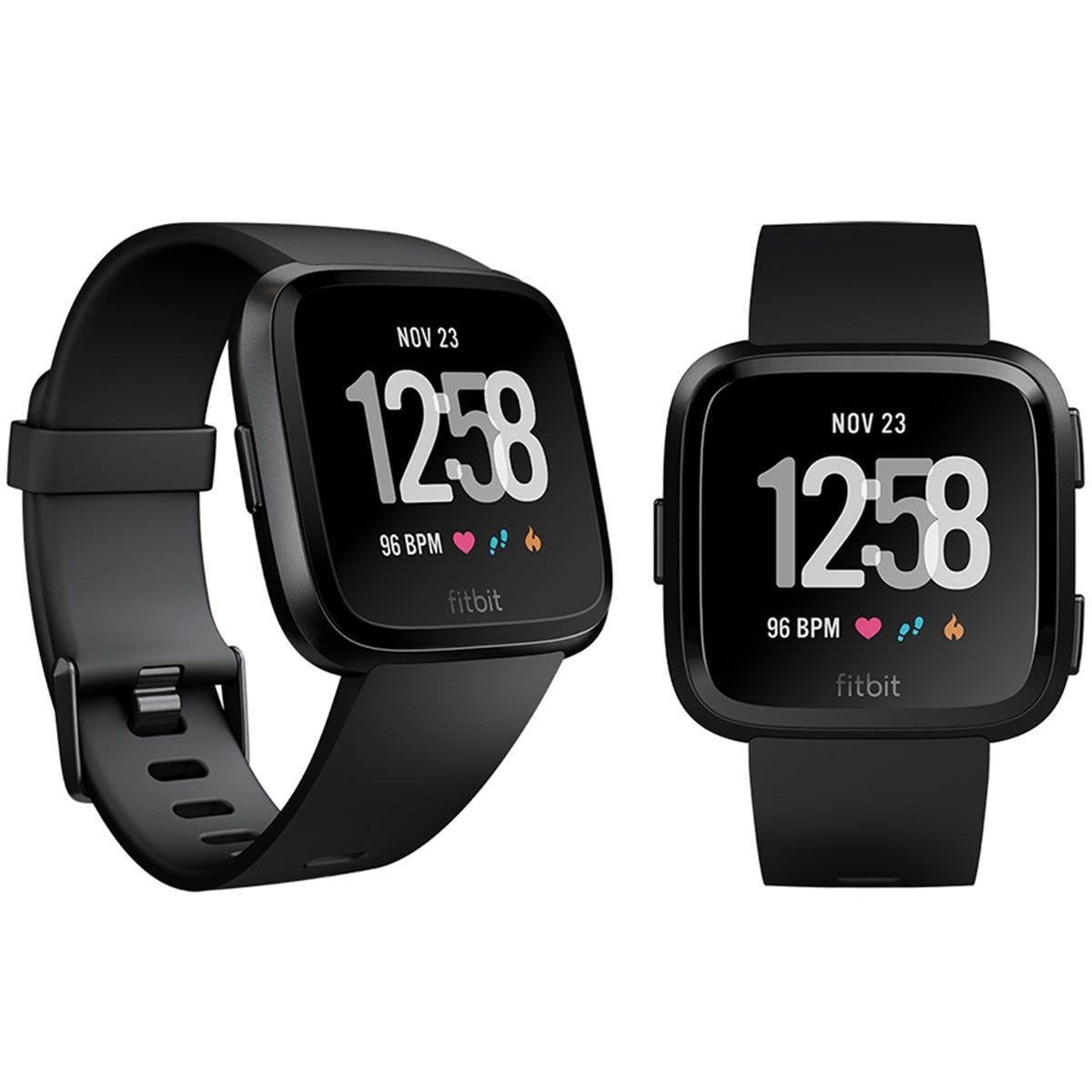 Fitbit Unisex Versa Health and Fitness Smartwatch - Black
