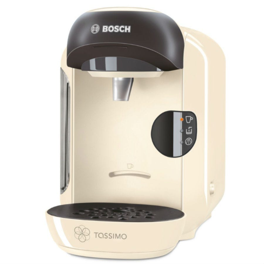 Bosch Tassimo Vivy II Hot Drinks & Pod Coffee Machine - Cream