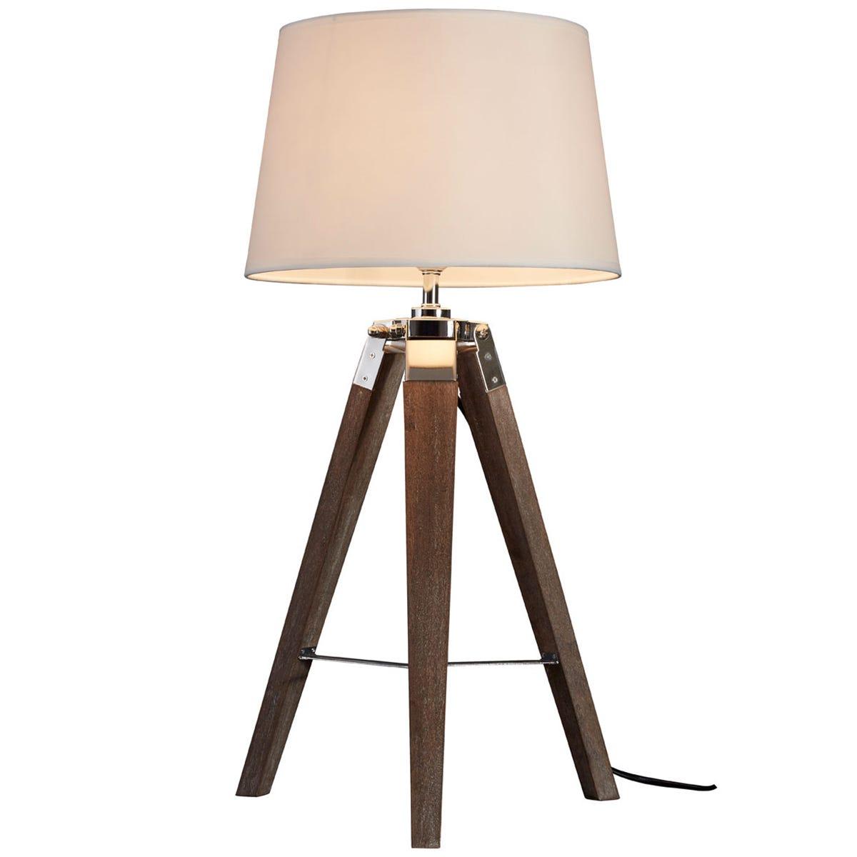Premier Housewares Bailey Table Lamp Brown / Tripod