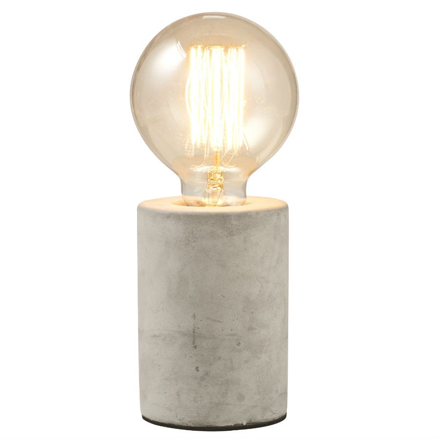 Compare prices for Gingersnap Mintage Concrete Table Lamp - Round