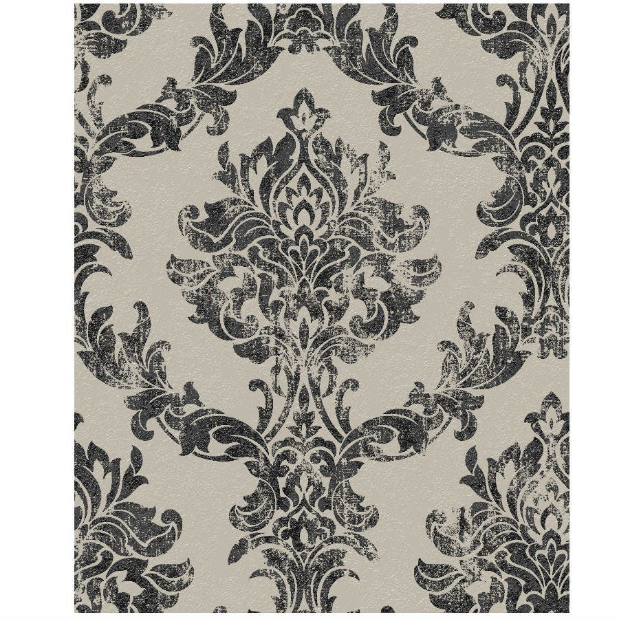 Compare prices for Boutique Opal Damask Wallpaper - Charcoal