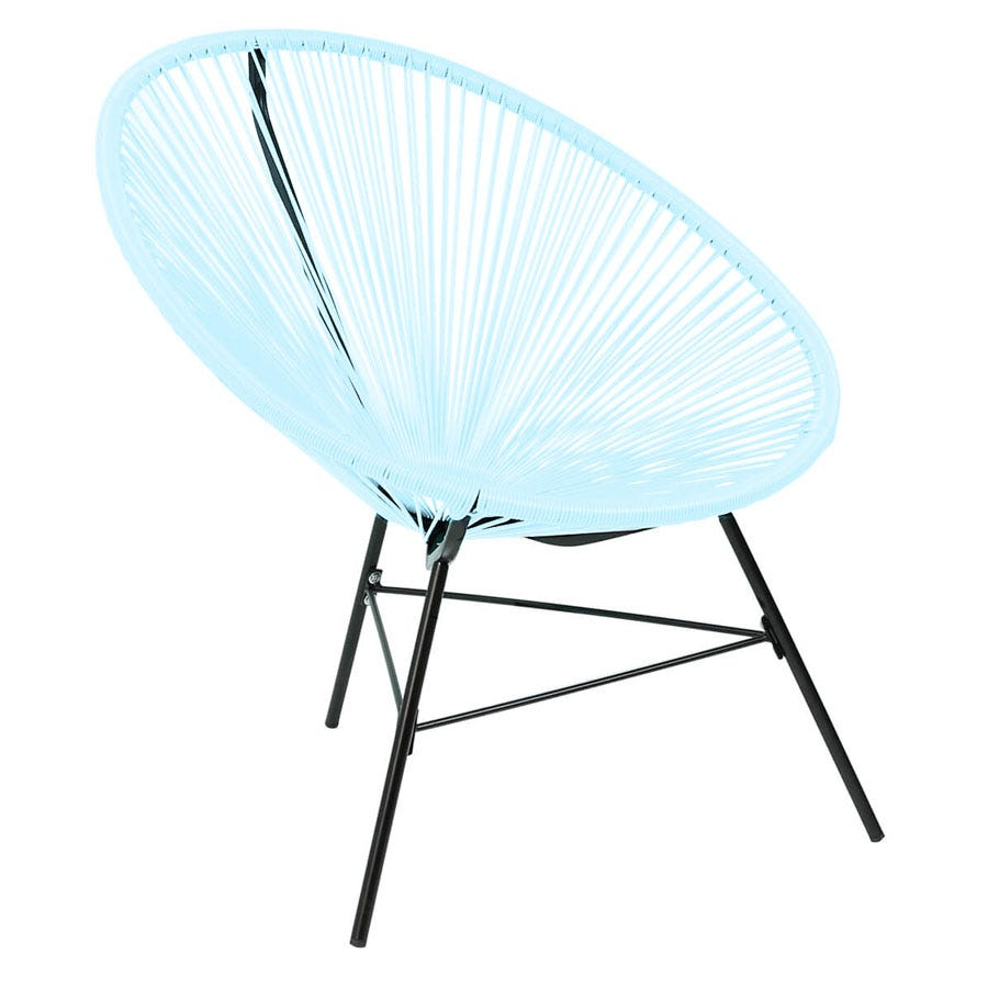 Compare cheap offers & prices of Charles Bentley Retro Lounge Chair - Pastel Blue manufactured by Charles Bentley