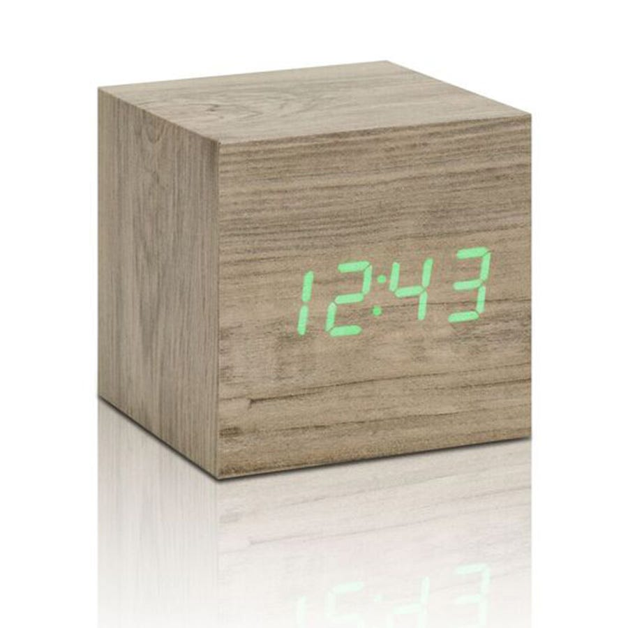 Compare prices for Gingko Click Clock Cube Interactive LED Alarm Clock - Ash