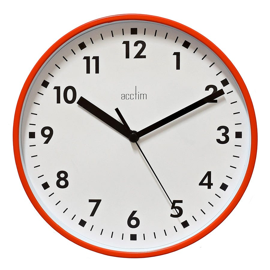 Image of Acctim Wickford Wall Clock - Red