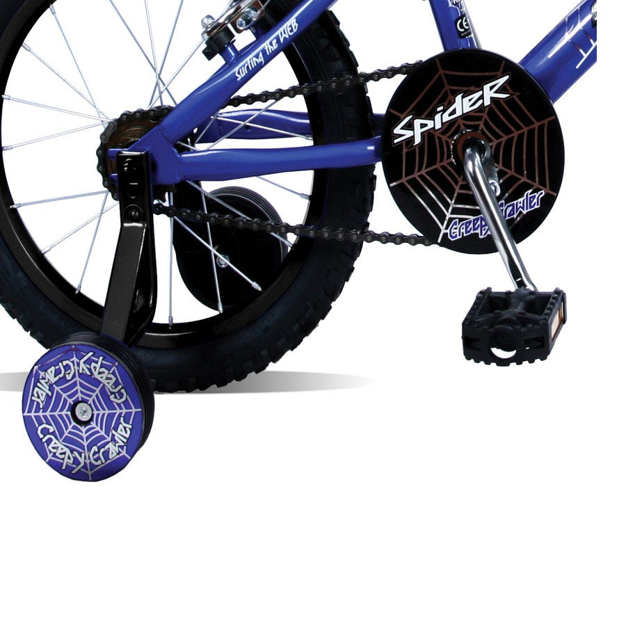 Concept Spider 16 Inch Wheel Kids' Bike with Stabilisers - Blue