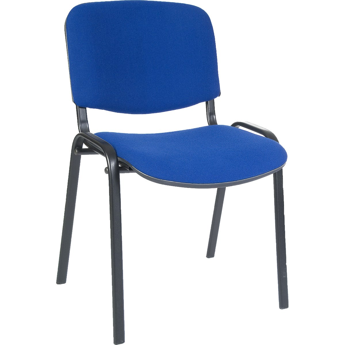 Teknik Office Stackable Conference Chair with Padded Seat and Backrest - Black Fabric