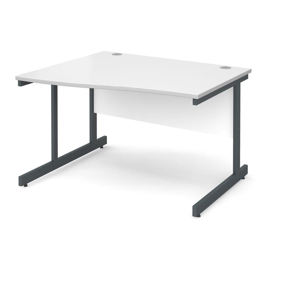 Dams Contract Left Hand Wave Desk White