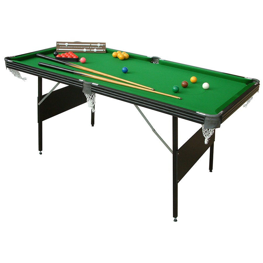 Compare prices for Mightymast Crucible 6ft 2-in-1 Folding Snooker and Pool Table