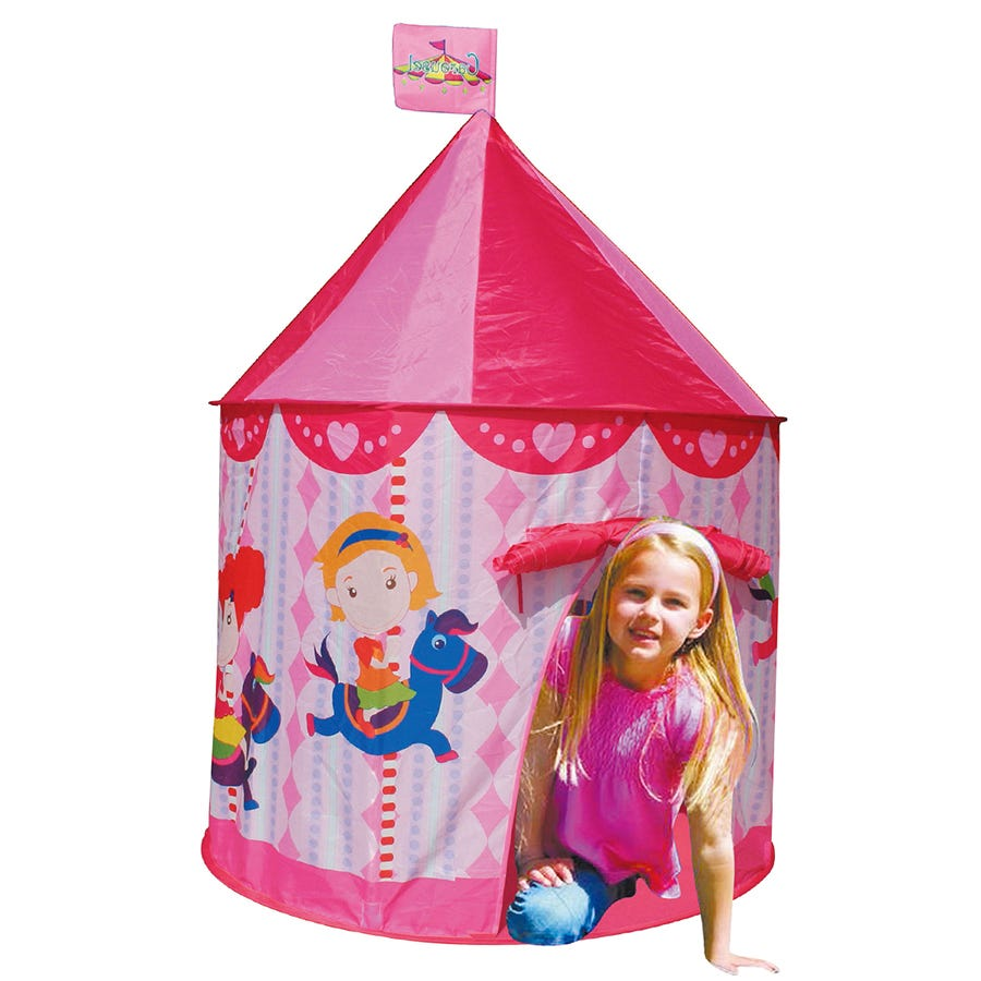 Charles Bentley Pink Princess Castle Play Tent