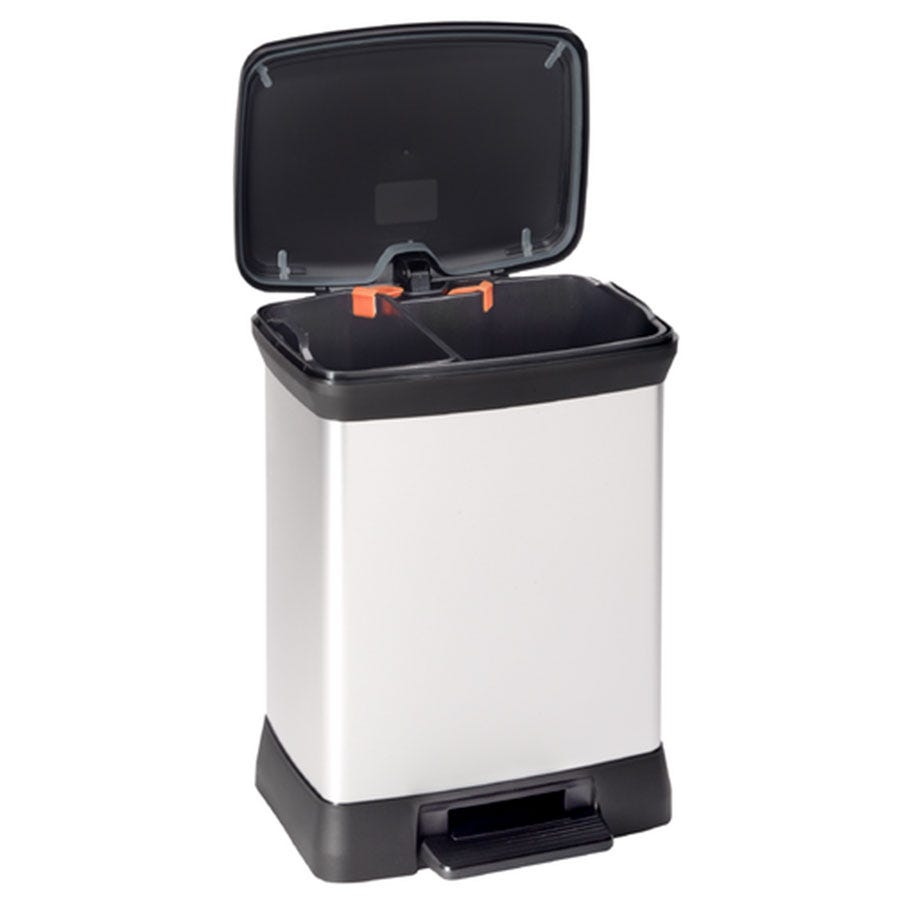 Compare prices for Curver Deco Double Recycling Bin with Pedal
