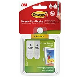 3m Command Assorted Picture Strips 12 Pack Robert Dyas