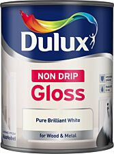Dulux Non-Drip Gloss Paint – Pure Brilliant White – 750ml