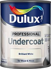 Dulux 0.75L Professional Paint Undercoat - Brilliant White
