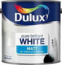 Dulux Matt Pure Brilliant White Paint - 2.5L