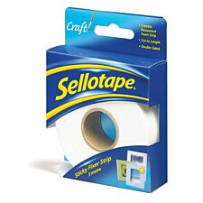 Sellotape Sticky Fixers Strips - 25mm x 3m