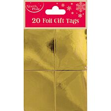 Gold Foil Gift Tags - 20 Pack