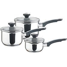Prestige Everyday Stainless Steel Saucepan Straining Set - 3 Piece