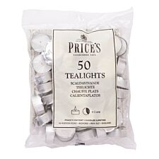 Price's White Tealights - Pack of 50