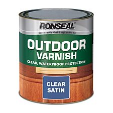 Ronseal Outdoor Varnish – Clear Satin, 750ml