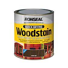 Ronseal Quick Drying Woodstain Satin Dark Oak 750ml