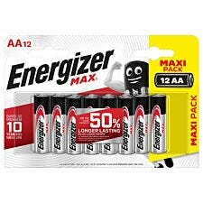 Energizer Max AA Batteries - Pack of 12