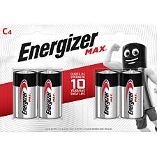 Energizer Max Batteries C - Pack of 4