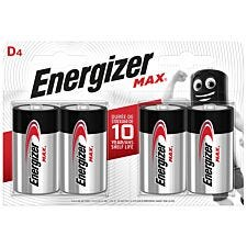 Energizer Max Batteries D - Pack of 4